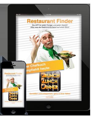 Brunch Lunch Dinner - Die App zur Suche von Restaurants und Gastroangeboten